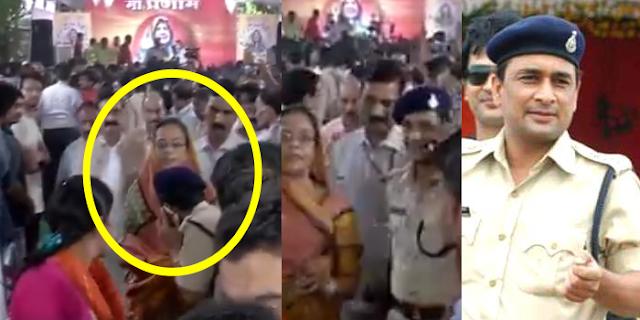 INDORE: वर्दी में Addl SP ने शिवराज सिंह की पत्नी के पैर छुए | MP NEWS