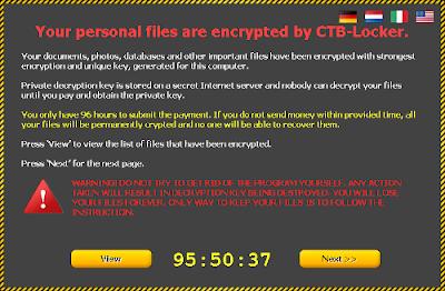 CTB Locker Ransomware.