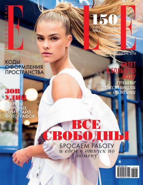 Fashion Model, @ Nina Agdal - glamorous chic for Elle magazine
