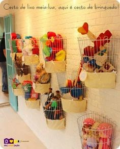 wire baskets playroom toys