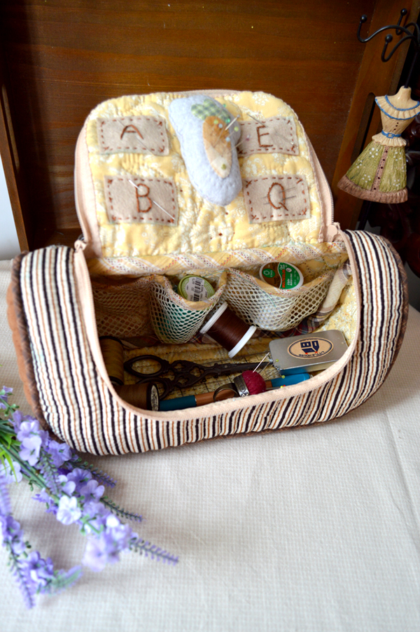 How to make tutorial sewing kit case bag