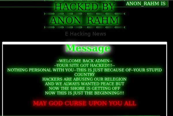 Bangladesh Government websites defaced by Rahm Anonymous - E Hacking