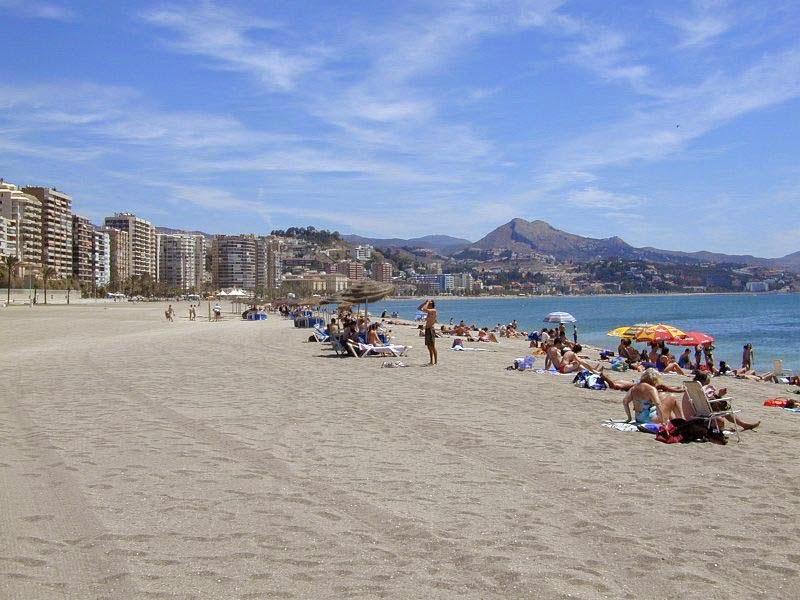 La Playa de la Malagueta en Málaga