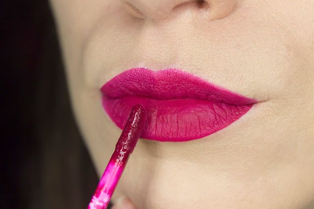 New year make-up 2018, step 16: Lime Crime Velvetines Red Rose