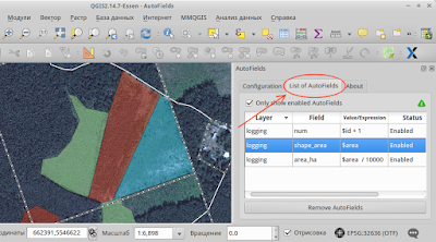 autofield qgis - List of AutoFields