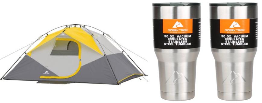 $69.36) Ozark Trail 4-Person Instant Dome Tent + (2) 30oz Tumblers Value Bundle!  sc 1 st  qpanion & Walmart: $29.41 (Reg. $69.36) Ozark Trail 4-Person Instant Dome ...