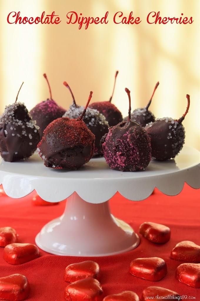 Valentine's Day Treat- Chocolate Dipped Cake Cherries
