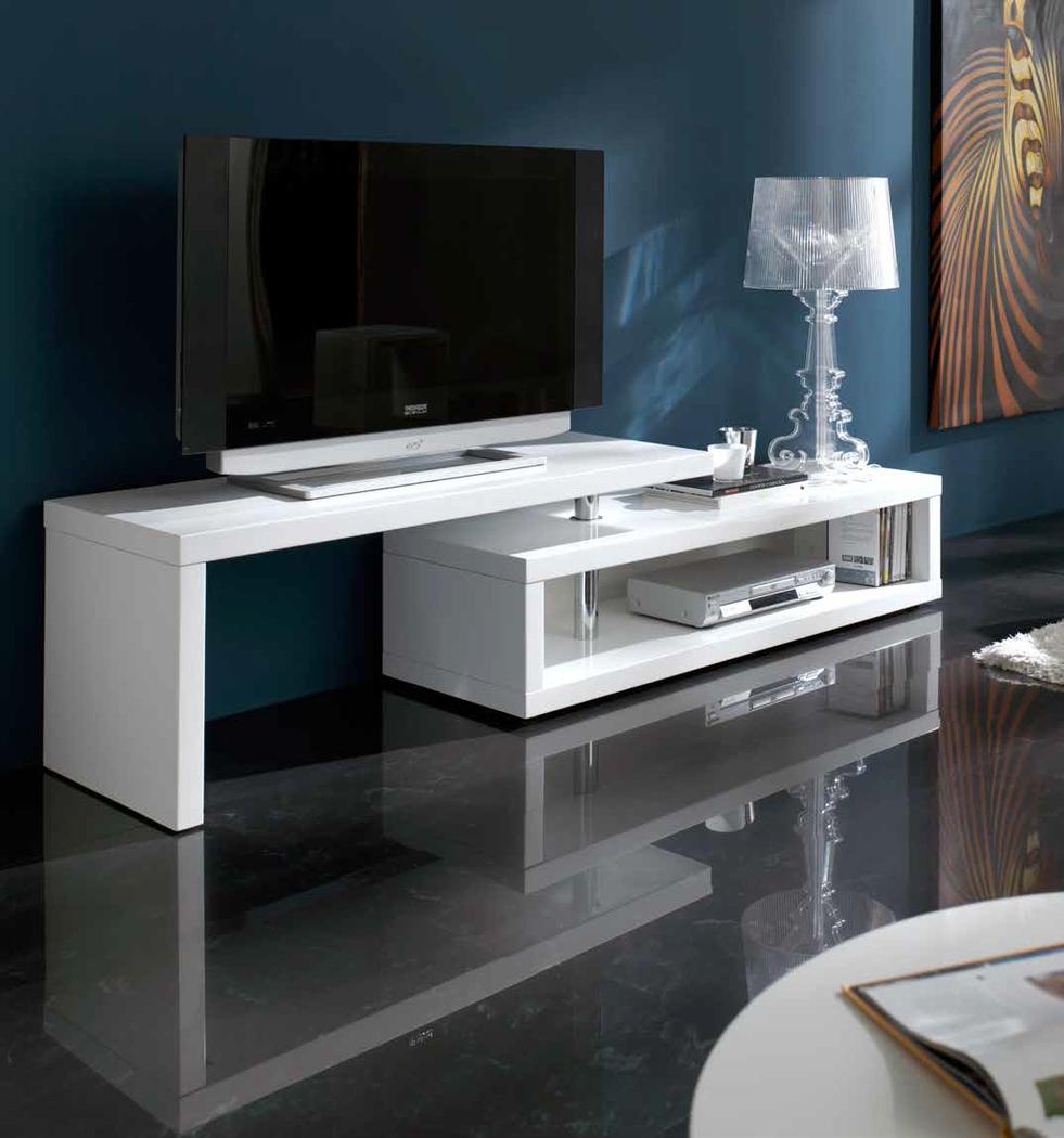 Muebles de televisin mueble de television blanco alaska for Mueble colonial blanco