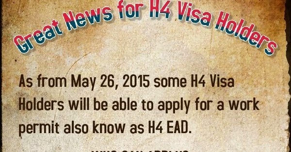 H4 Work Authorization, Work Permit or H4 EAD and H4 Visa Issues: New
