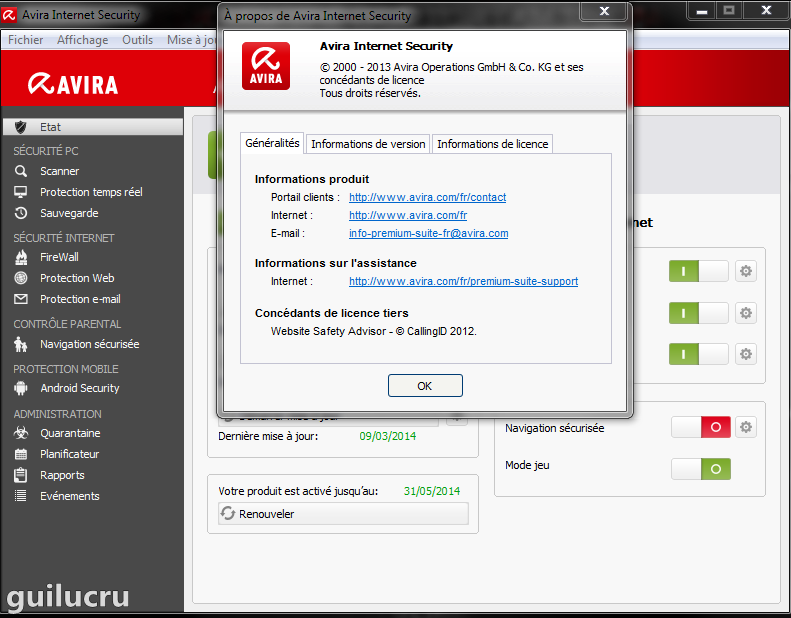 mise a jour manuelle avira internet security 2012