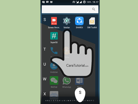 Menu Setelan Android