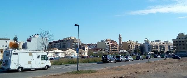 El Vendrell: estacionament a l'av. Riera de la Bisbal