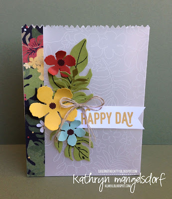 Stampin' Up! Botanical Blooms, Botanical Builder Framelits Dies, Mini Treat Bag Thinlits, Perfect Pairings Gift Bag by Kathryn Mangelsdorf