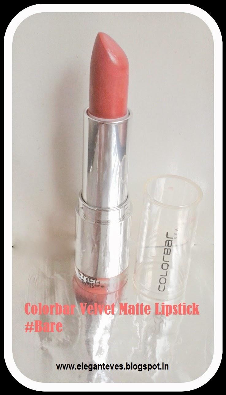 Velvet Matte Swatches: Review Of Colorbar Velvet Matte Lipstick #Bare