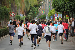 running, niños, carreras, correr, familia