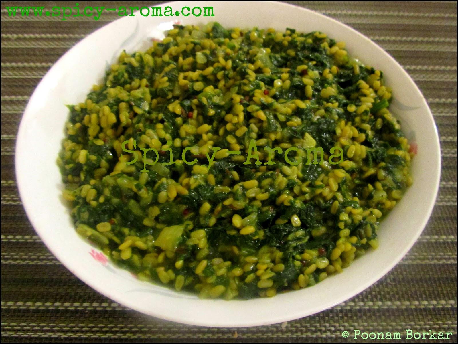 Cake Recipes In Marathi Information: Palak Sukhi Bhaji Recipe In Marathi