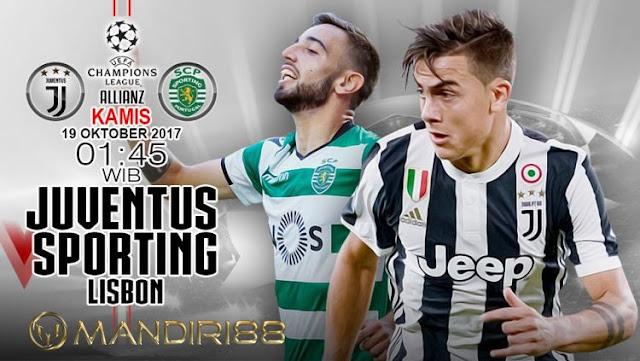 Juventus akan menjamu Sporting CP pada Machday Berita Terhangat Prediksi Bola : Juventus Vs Sporting CP , Kamis 19 Oktober 2017 Pukul 01.45 WIB