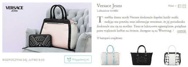 VERSACE JEANS torebki torby na WESTWING