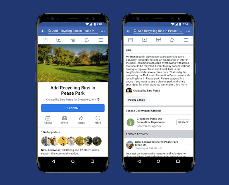 Facebook Introduces Community Actions, a News Feed Petition Feature