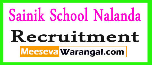 Sainik School Nalanda Recruitment 2017