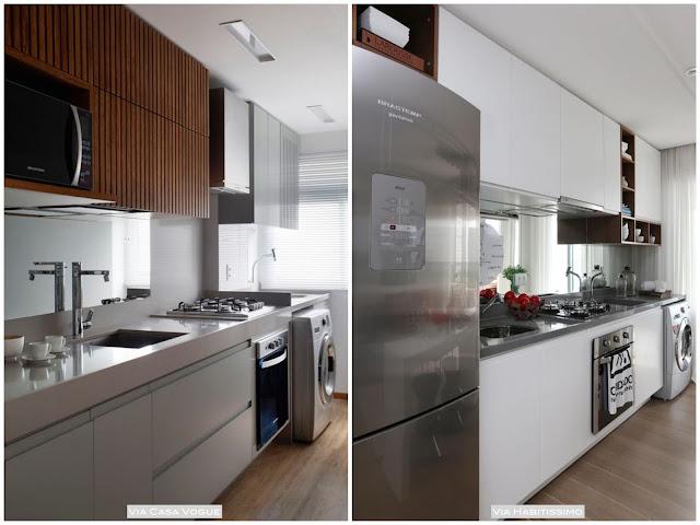 como usar espelho na cozinha