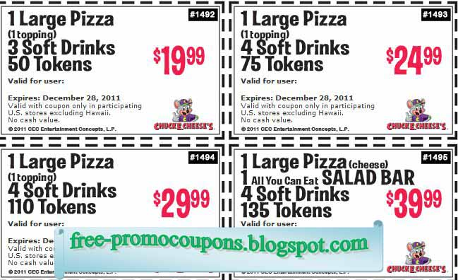 coupons for chuck e cheese