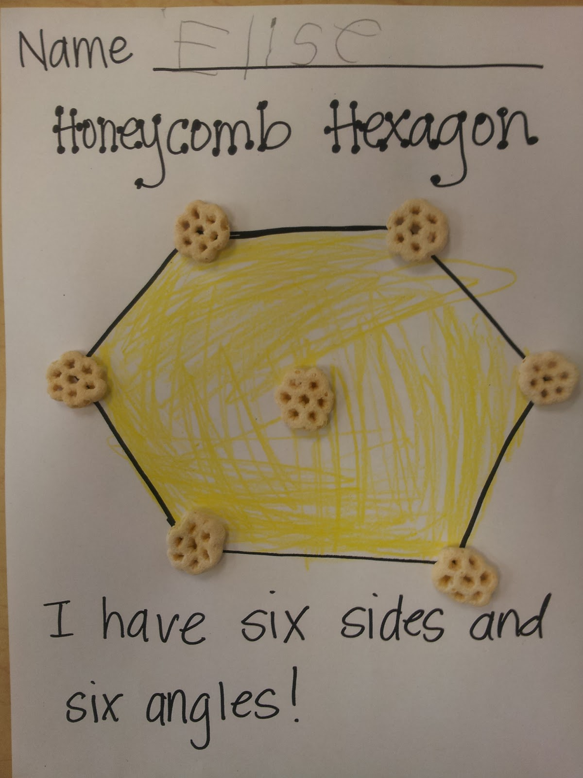 Colors And Kindergarten Hexagons