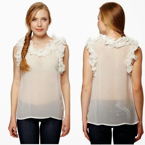 Camiseta transparente blanca