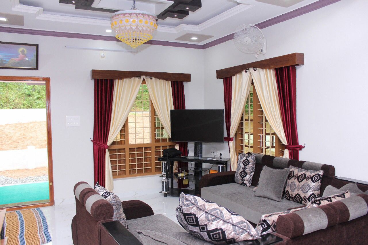 1950 sq ft completed house of mr rijo reji with interior photos kerala home design and floor. Black Bedroom Furniture Sets. Home Design Ideas