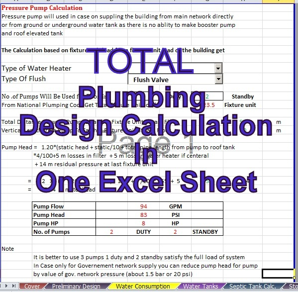 www pdfstall online: Total Plumbing Design Calculation In