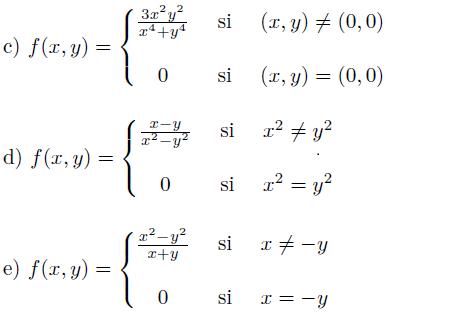 Continuidad de funciones de varias variables