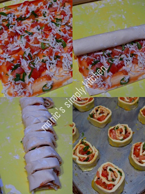 cara membuat pizza roll puff