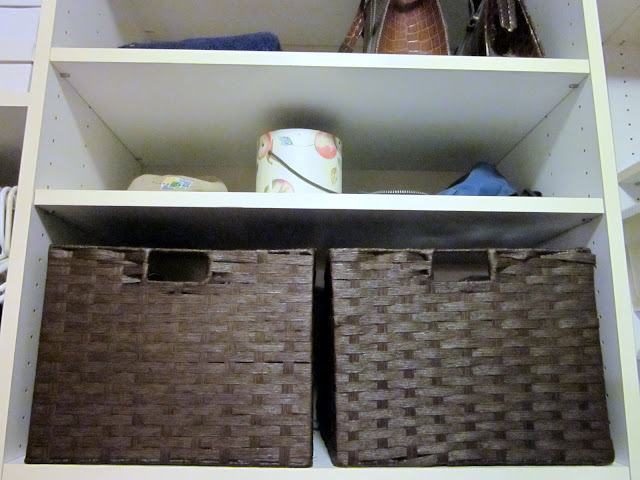 organized closet, diy design fanatic, diy, organization, baskets