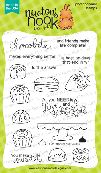 Newton's Nook Designs Love and Chocolate Stamp Set