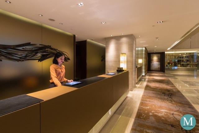 Reception of New World Makati Hotel