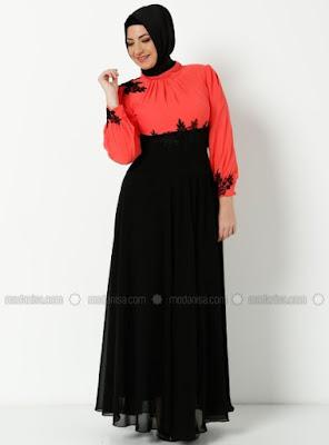Baju Muslim Gamis Big Size Sifon Modern