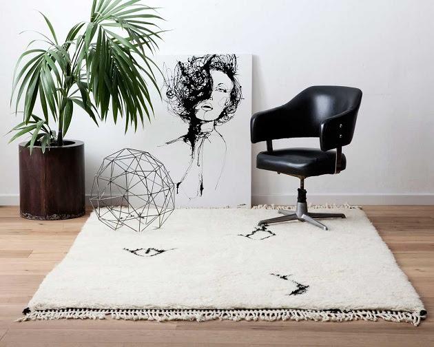 alfombras de lana hechas a mano Sukhi beni ouarain
