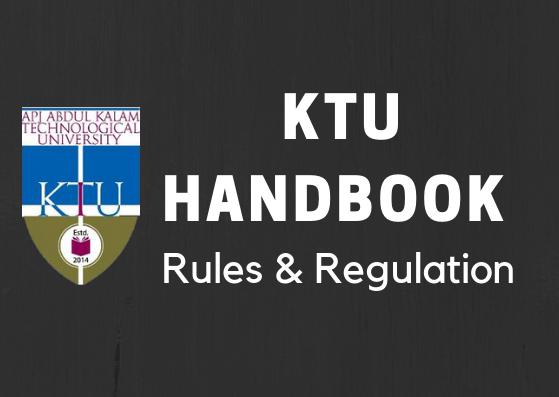 KTU Handbook | Rules & Regulation 2019