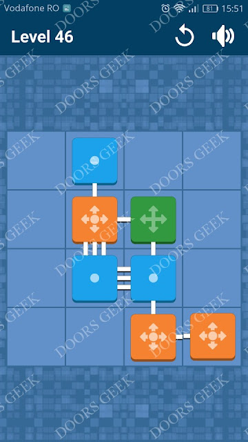 Connect Me - Logic Puzzle Level 46 Solution, Cheats, Walkthrough for android, iphone, ipad and ipod