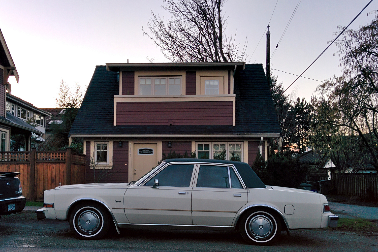 Old Parked Cars Vancouver 1986 Dodge Diplomat