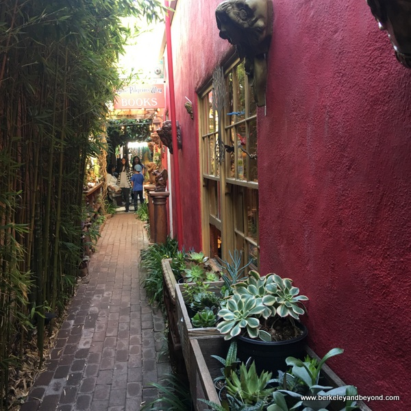passageway to The Secret Garden shop in Carmel, California
