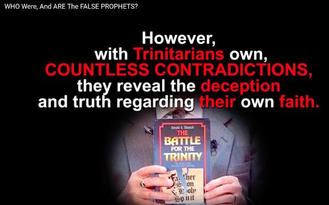 Trinitarians like David Pawson prove the TRINITY is false.