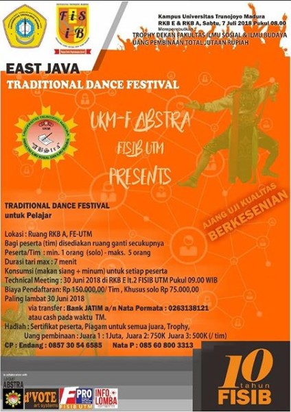 Lomba Traditional Dance Festival Troghout East Java UTM 2018
