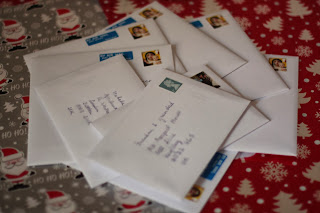 Christmas cards sent to our relatives and friends