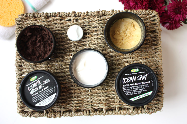 winter evening skincare routine lush