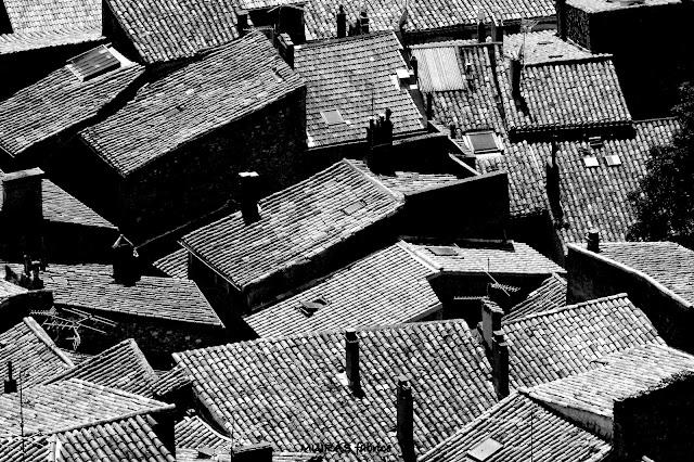 toit de maison dans les cevennes