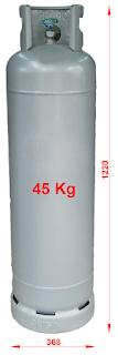 kich thuoc binh ga 45 kg