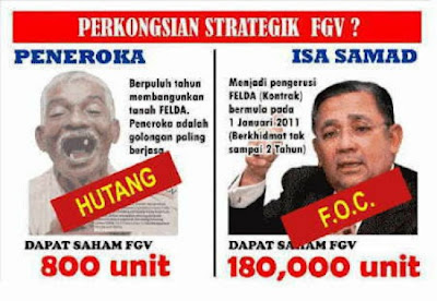 Image result for isa samad and Felda FGV share