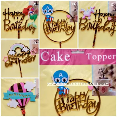 Cake Topper Acrylic HAPPY BIRTHDAY (KARAKTER)